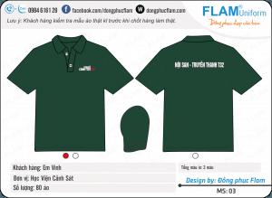 áo đồng phục công ty giá rẻ Flam 03