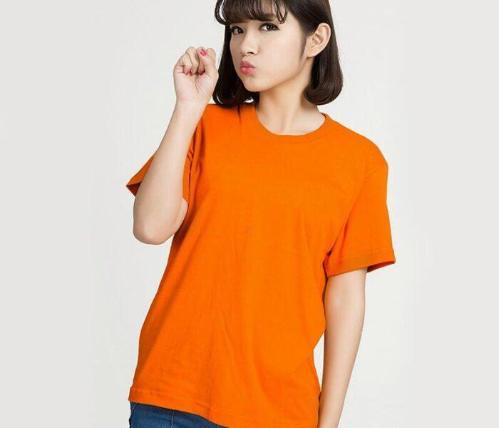 Áo màu cam in nhiệt