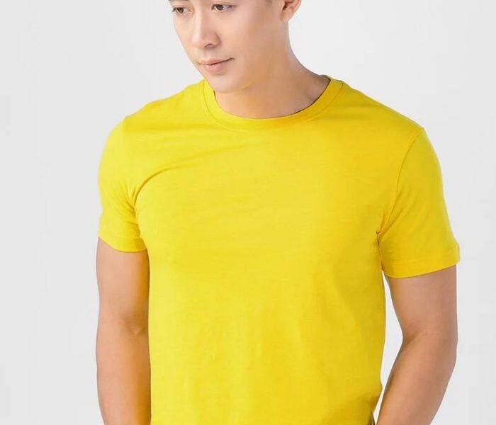 Áo màu vàng in nhiệt